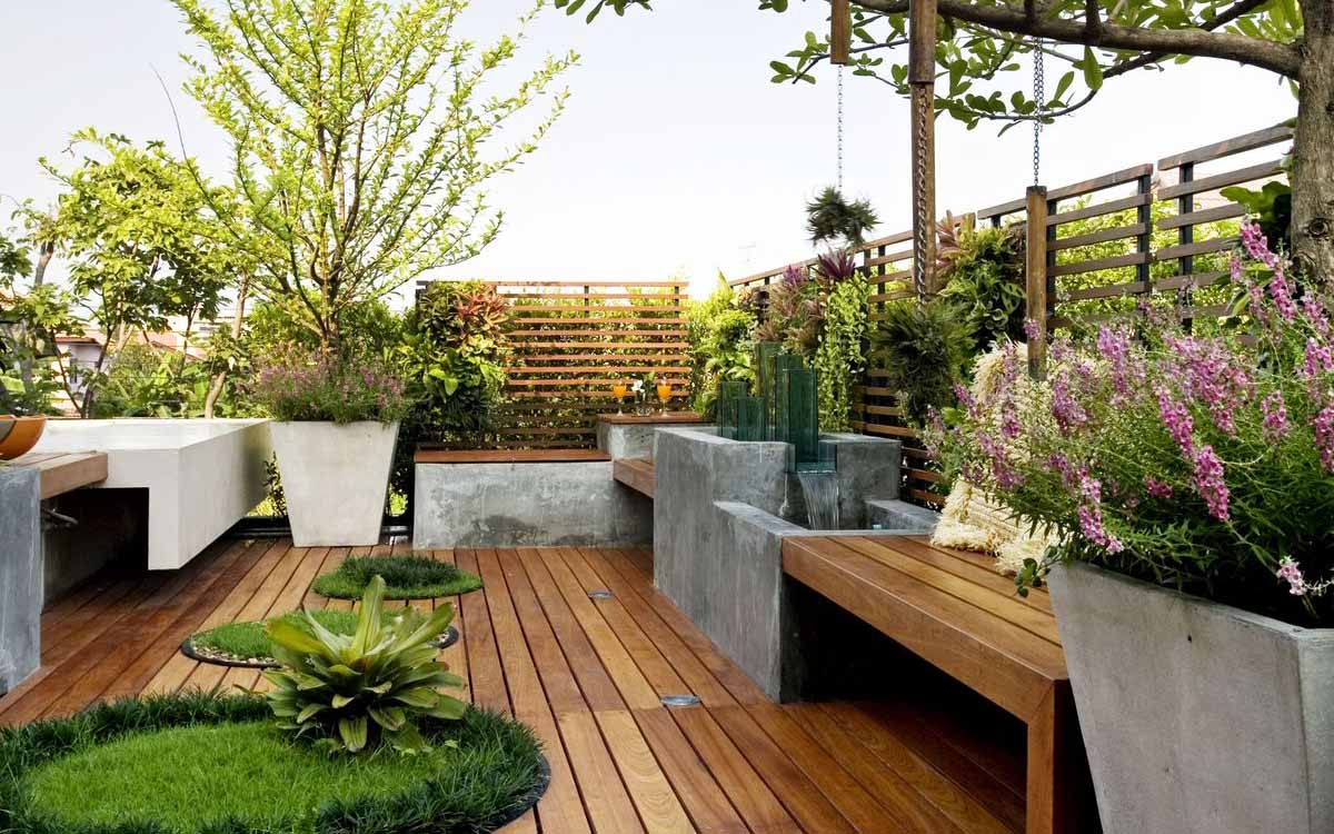 Dise o de balcones terrazas y jardines ead escuela for Como decorar parques y jardines